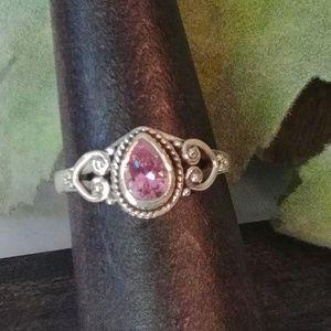 Pink Kunzite Demi-Ring